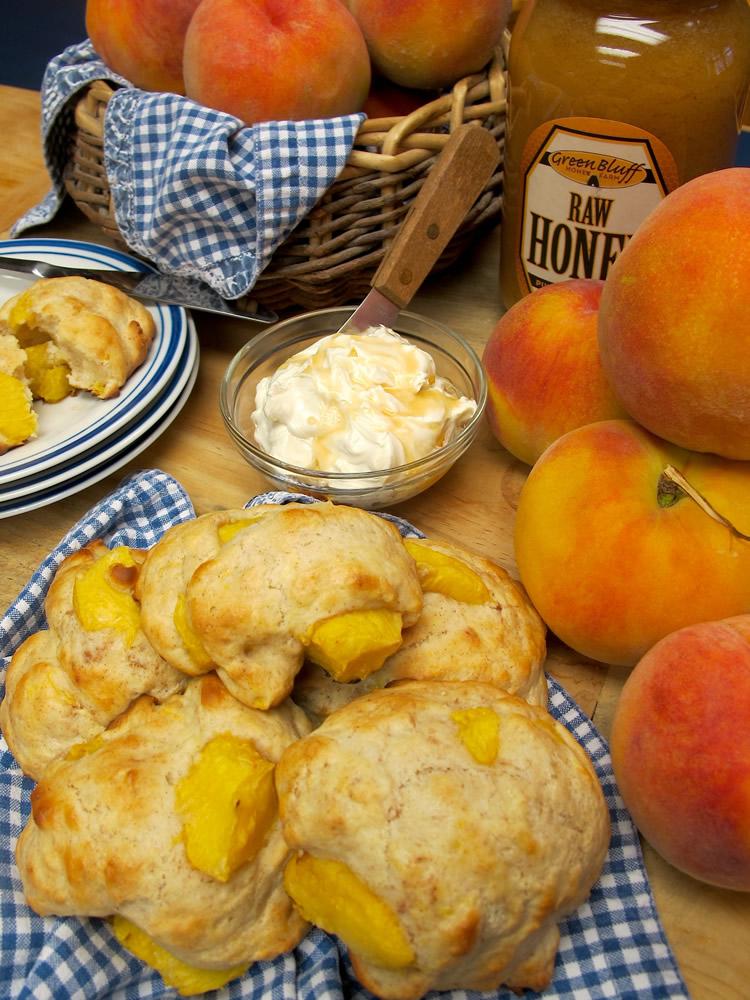 Fresh Peach Drop Biscuits