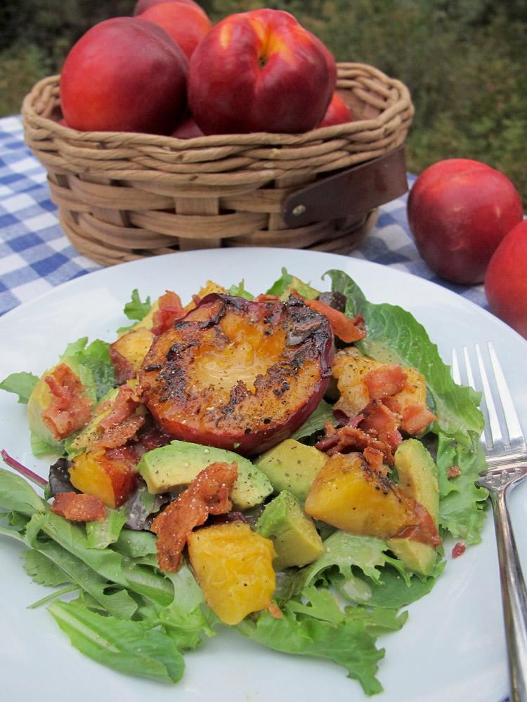 Grilled Nectarine Breakfast Salad