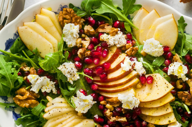 Pear & Pomegranate Salad w/ Honey Balsamic Dressing