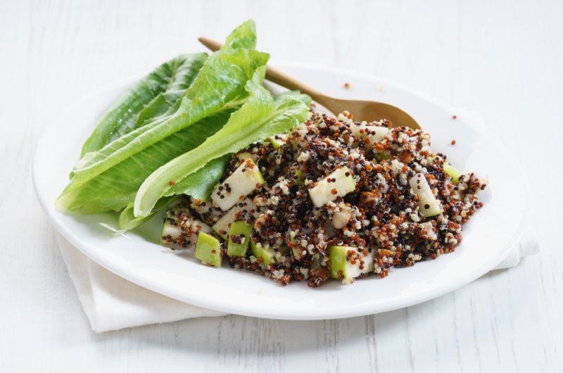 Apple Quinoa Lettuce Wraps
